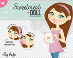 Sweetmeal doll (PNG/PSD)