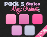 Pack 5 Styles Magic gradients 2