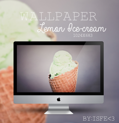 Wallpaper Lemon Ice cream