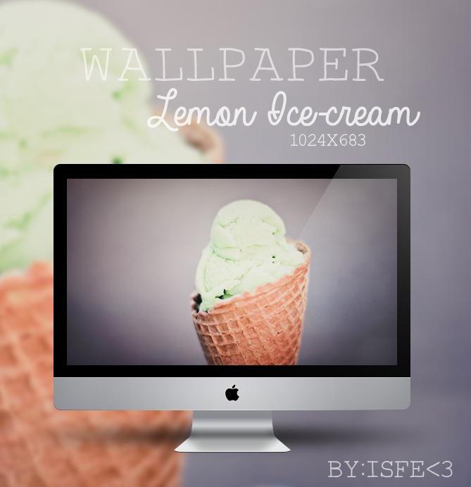 Wallpaper Lemon Ice cream by Isfe