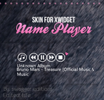 Skin for Xwidget- Name player