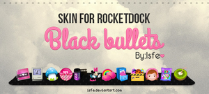 Skin for Rocketdock Blackbulletes