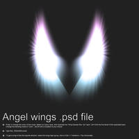 Angel Wings PSD File by Pokehkins