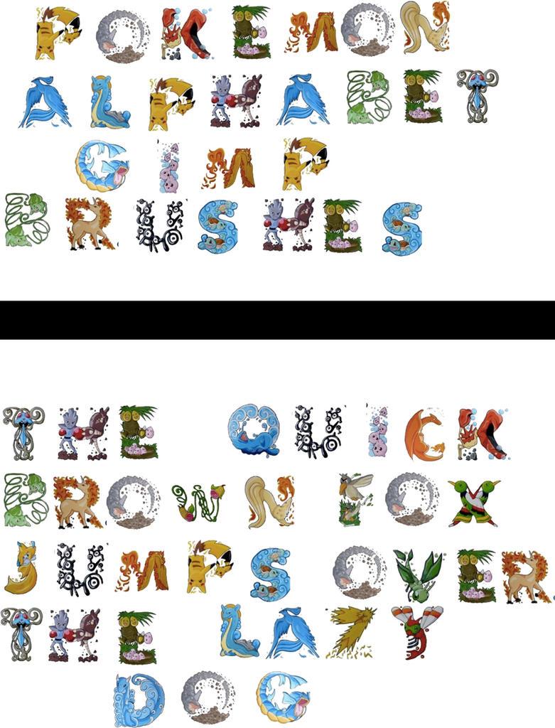 Pokemon Alphabet Gimp Brushes 392828622