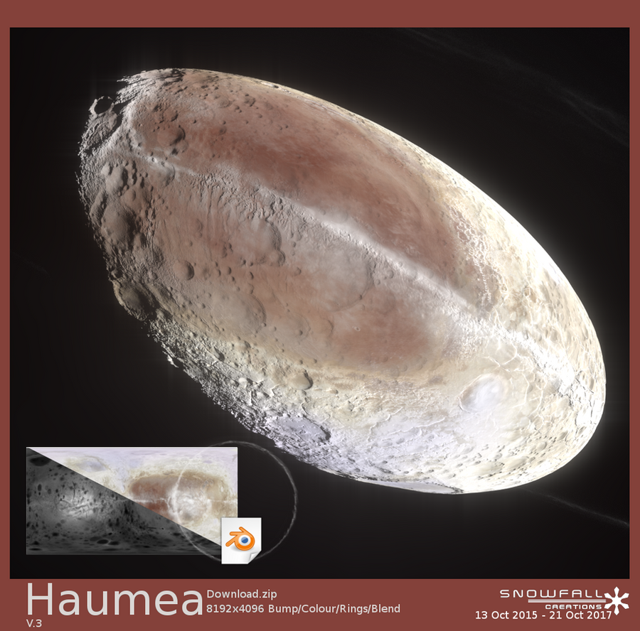 Haumea Artist's Impression v3 by Snowfall-The-Cat