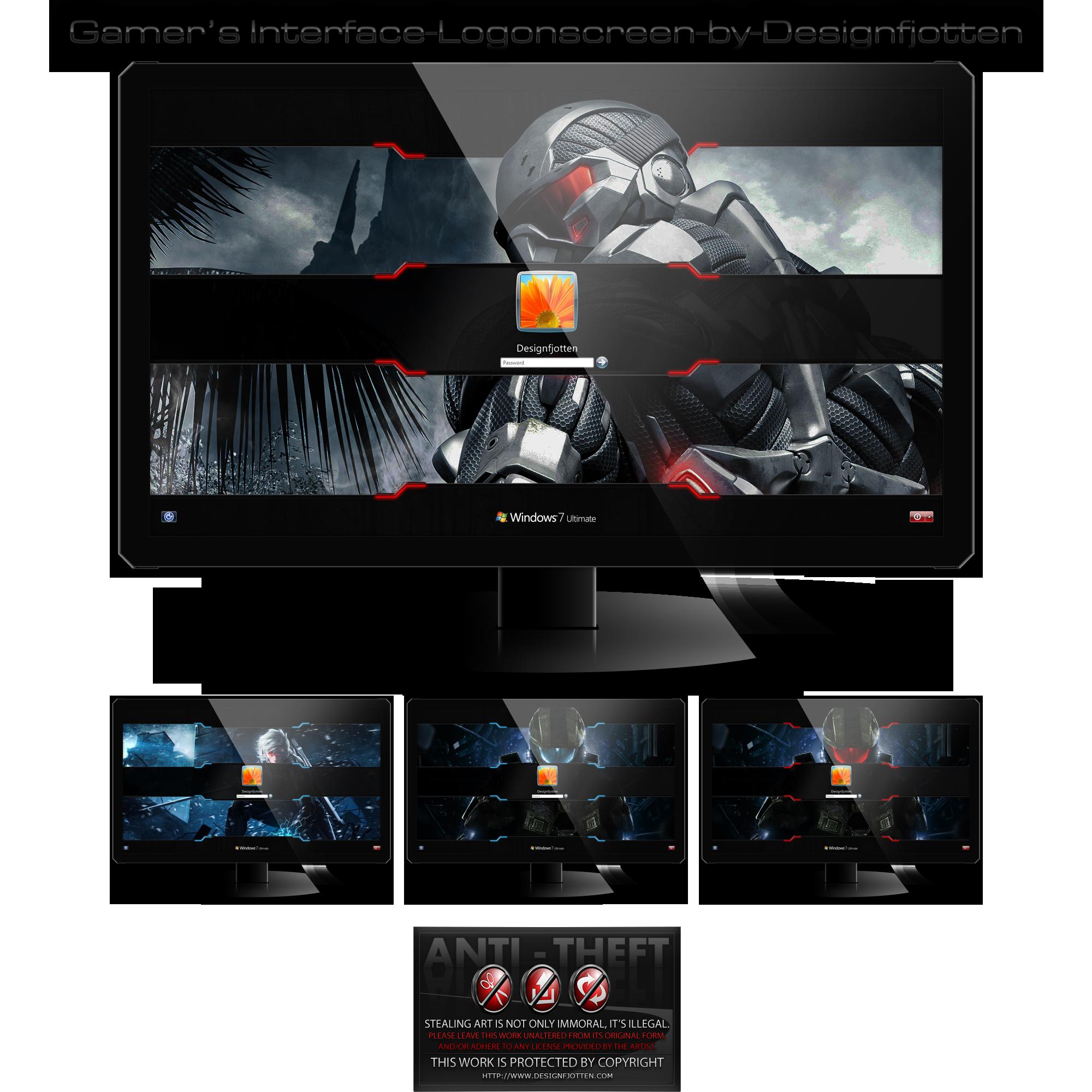 Gamer's Interface Logonscreen-Pack by Designfjotte