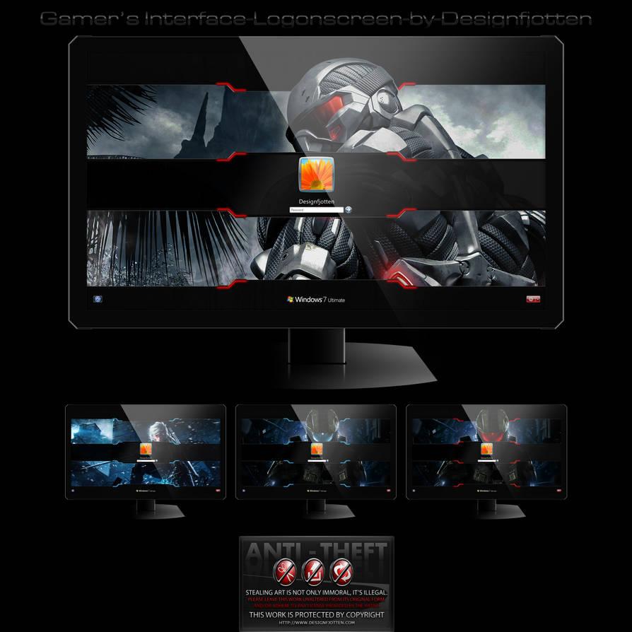 Gamer's Interface Logonscreen-Pack