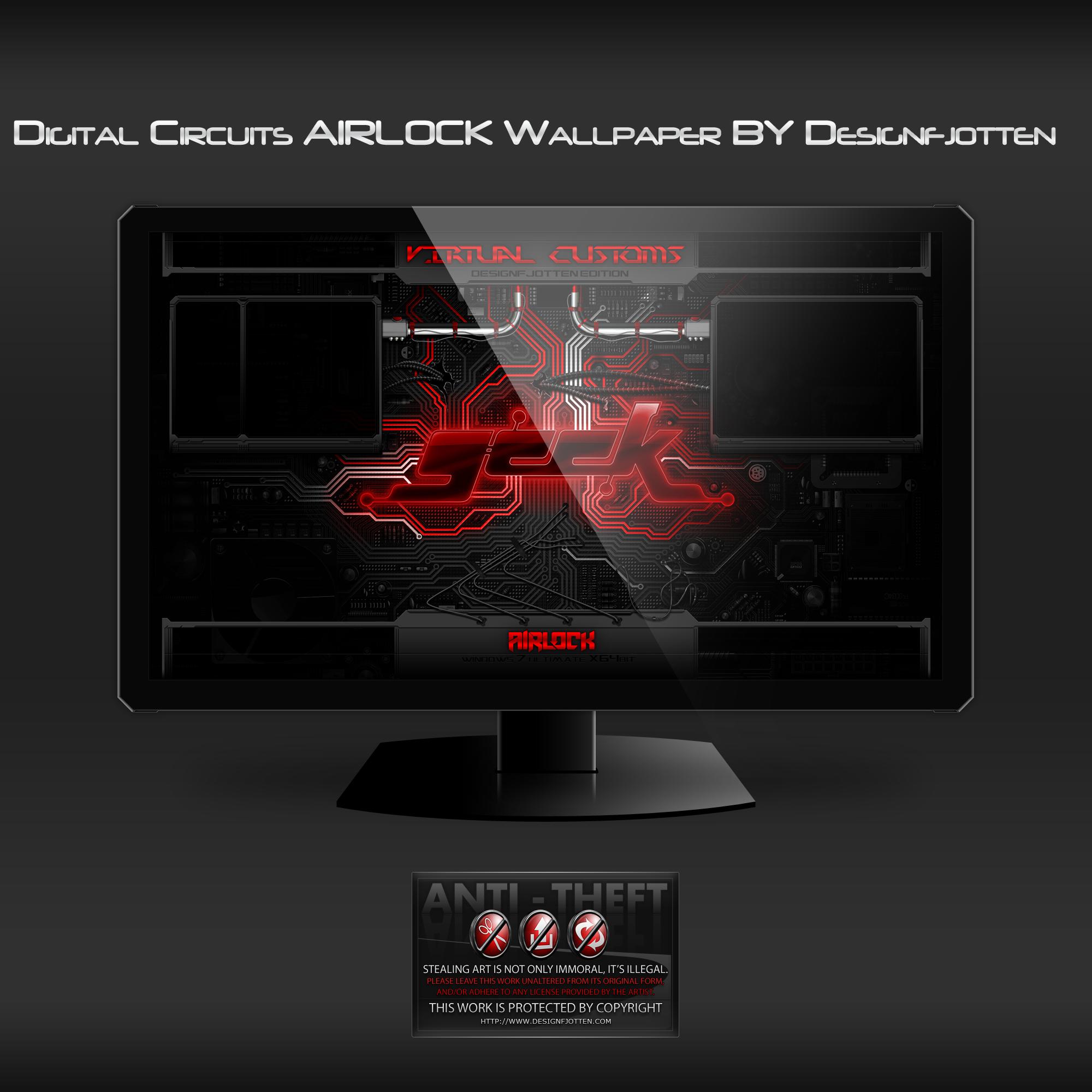 Digital Circuits AIRLOCK wallpaper by Designfjotten
