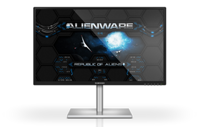 Alienware Wormhole BLUE Rainmeter Skin