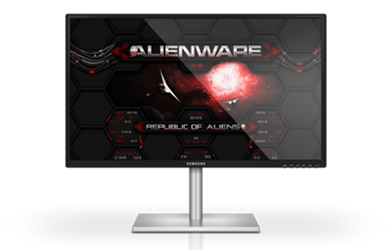 Alienware Wormhole RED Rainmeter Skin