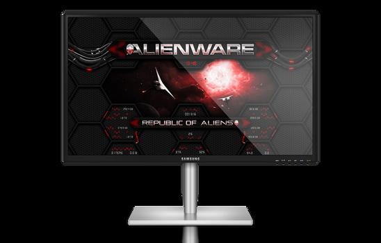Alienware Wormhole RED Rainmeter Skin
