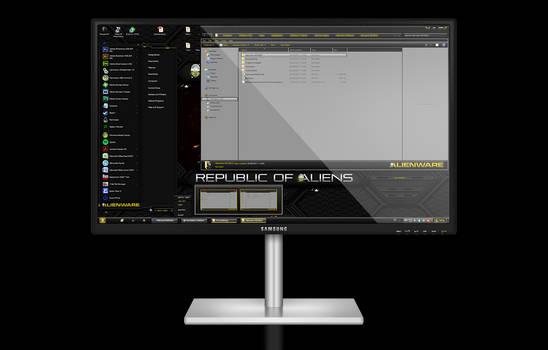 Alienware HQ GOLD Windows 7 Theme