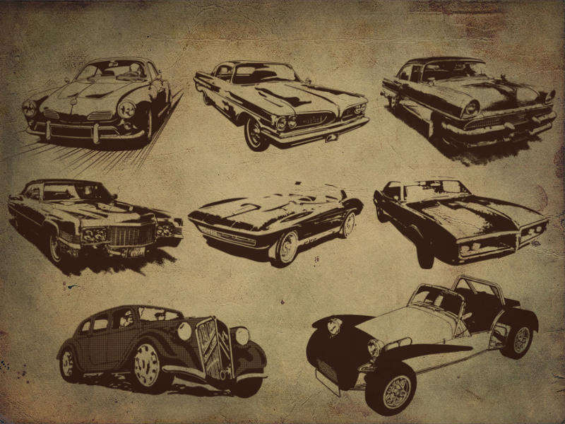 Retro style car Brushes by designstub on DeviantArt