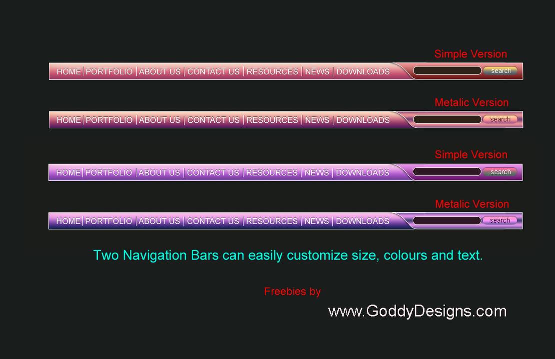 Web Menu Navigation Bar by GoddyDesigns