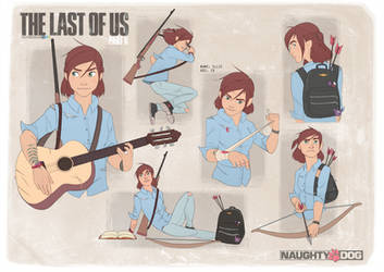 The Last Of Us Part II - Ellie Sheet by felitomkinson
