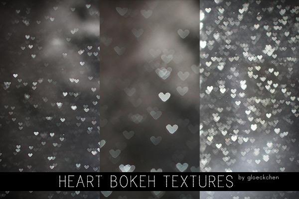 Heart Bokeh Textures. by gloeckchen