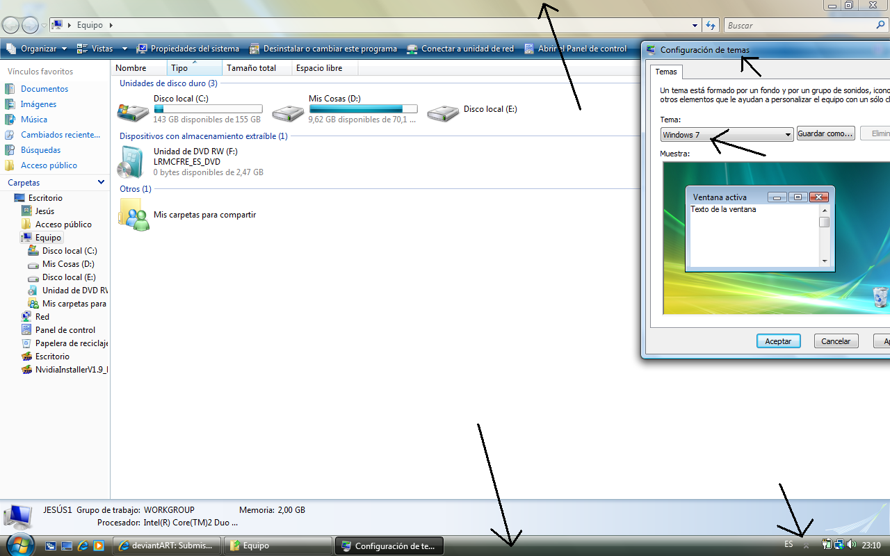 How to change Windows Server theme to aero