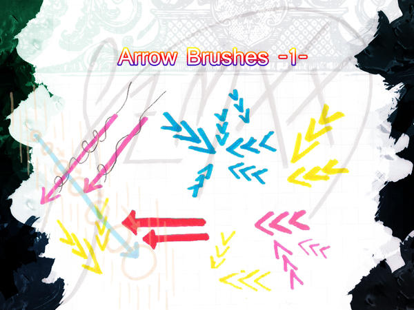 Arrow Brushes -1- by qzmxx
