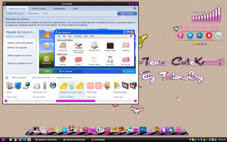 Tema IconPackager CuteKawaii by leyfzalley