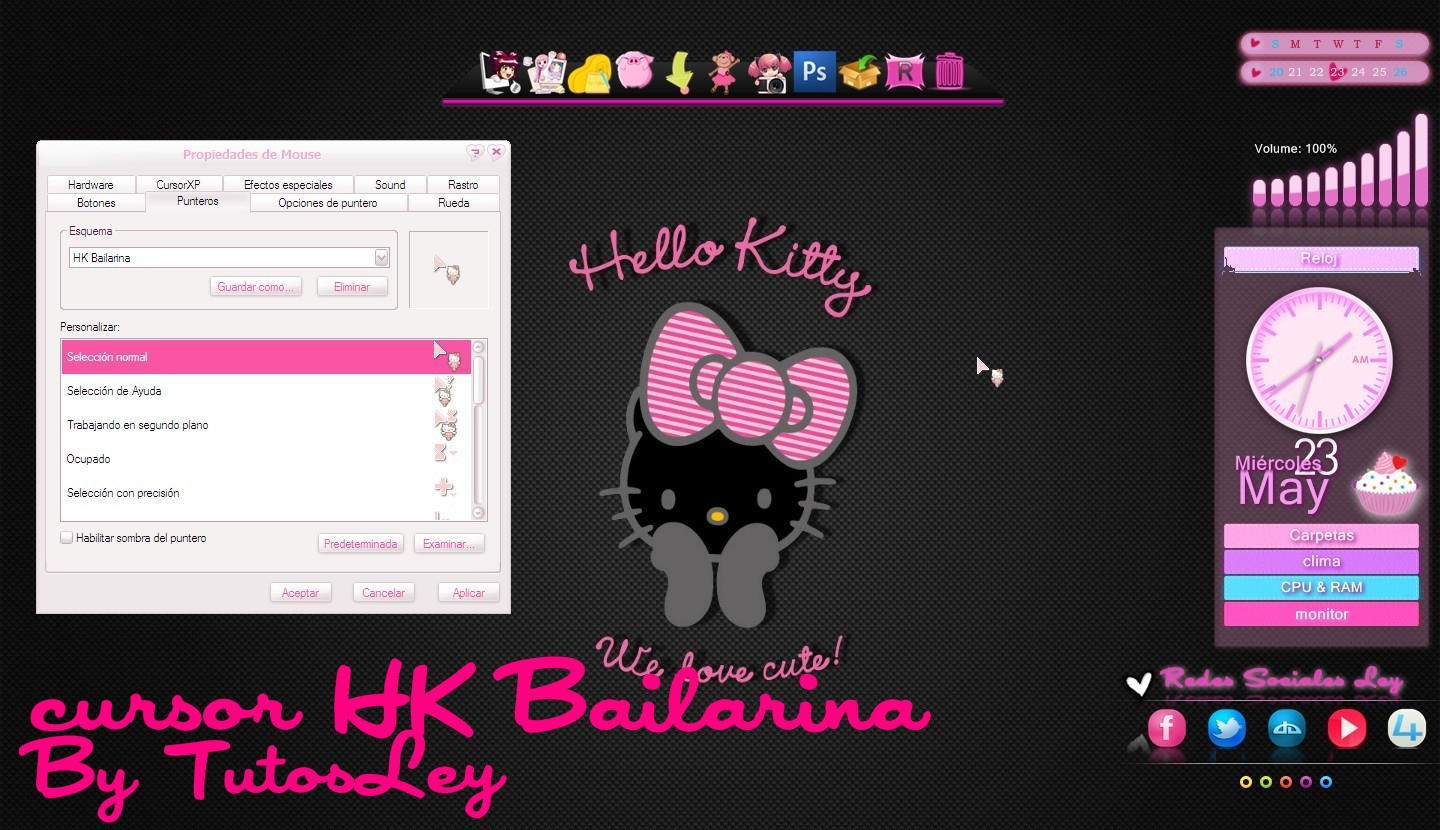 cursor HK Bailarina by leyfzalley