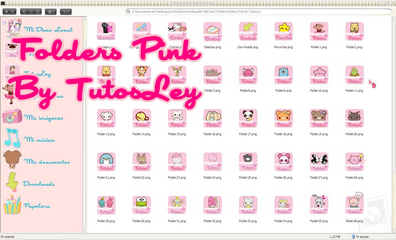 Folders Pink by leyfzalley