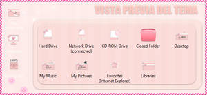 Tema IconPackager Kawaii Pink