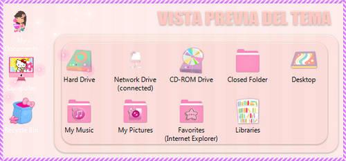 Tema IconPackager Carpetitas Pink by leyfzalley