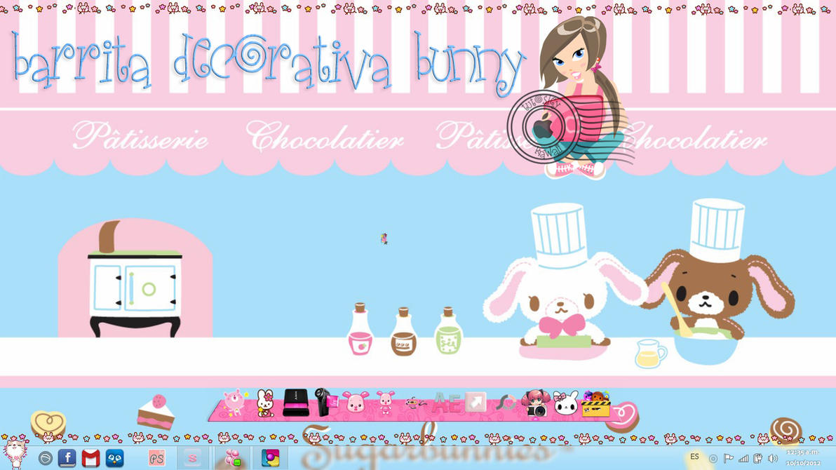 Barrita Decorativa Bunny by leyfzalley