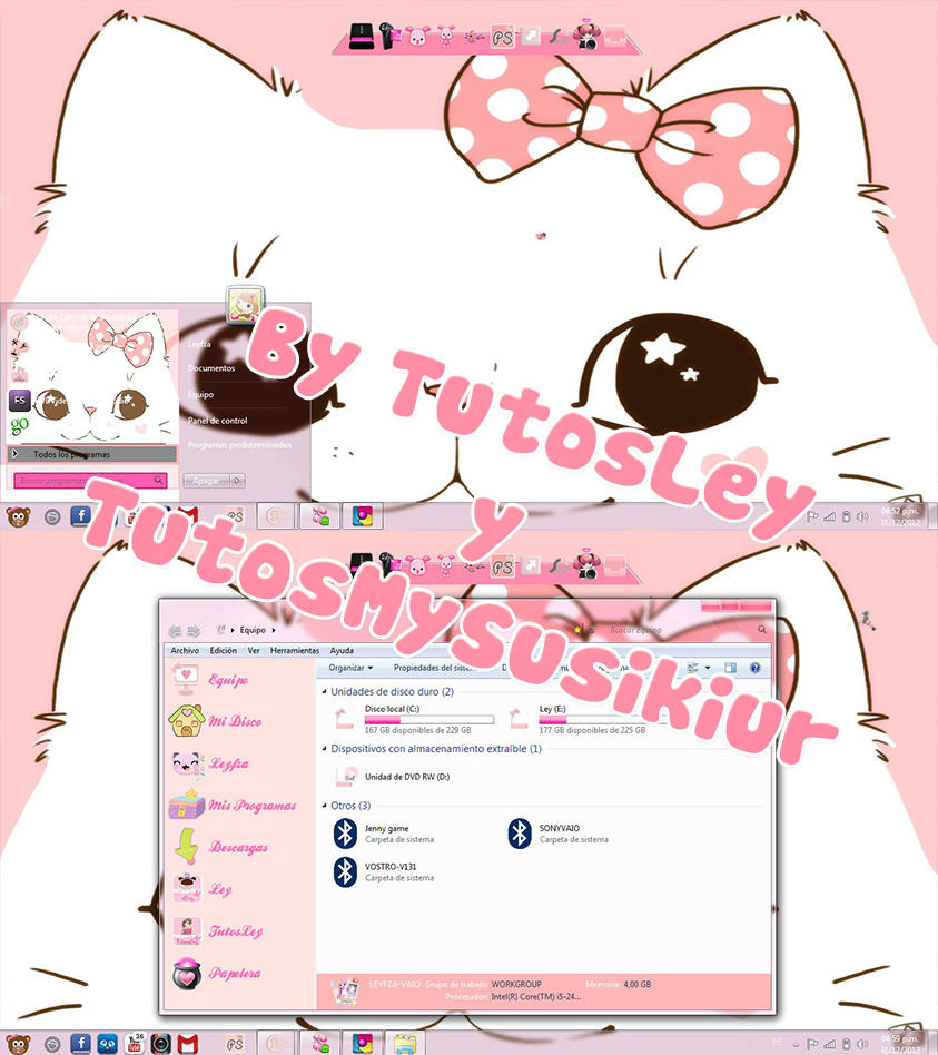 Tema Guirl kitty Cat by leyfzalley