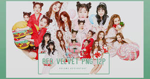 Red Velvet Christmas home party 12P PNG