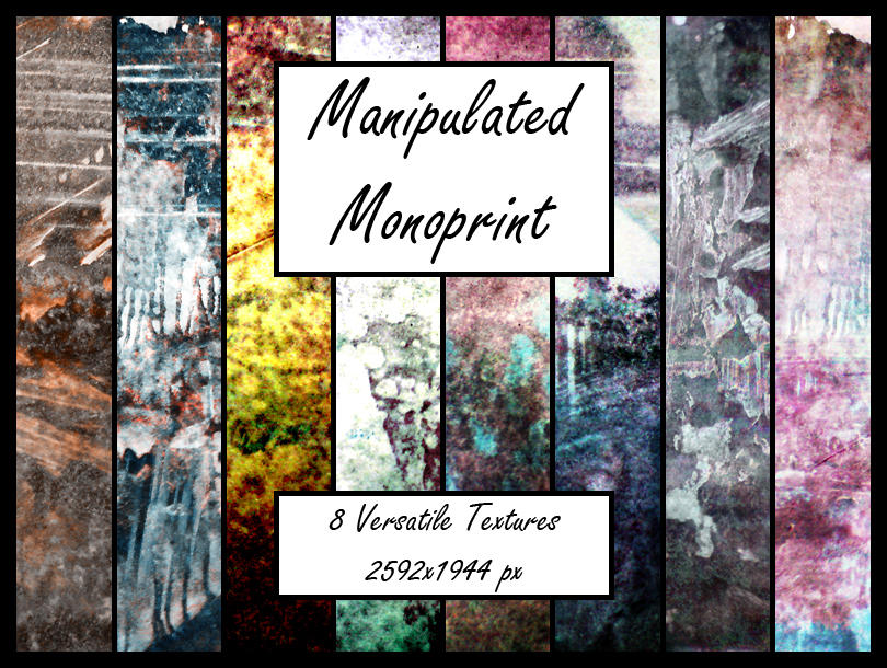 Manipulated Monoprints 1 by pendlestock