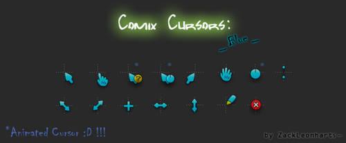 Comix Cursors Blue by ZackLeonharts