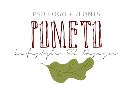 PSD Blog Logo + 2 fonts by Pometo