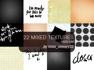 22 icon textures by misssnoopy25