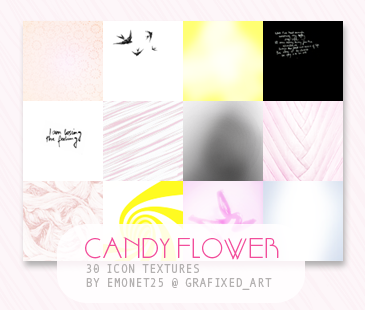 Candy Flower Icon Textures by misssnoopy25