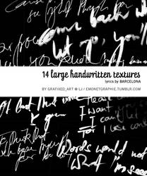 Handwritten Lyrics Textures