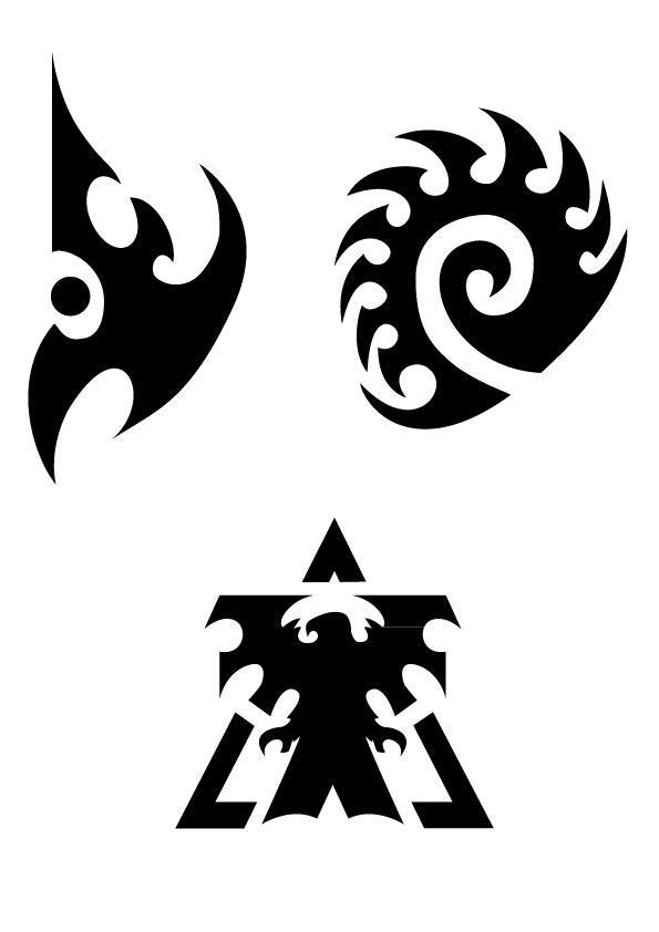 sc2 races logos vector by printgestalt on deviantart