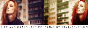 Fire and grass PSD coloring by Starved-Souls