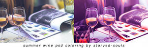 Summer Wine Psd Coloring By Starved-souls