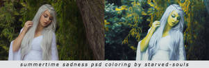 Summertime Sadness Psd Coloring By Starved-souls