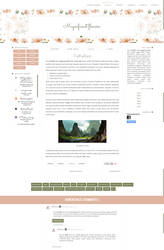 Magnificent Flowers - blogger template