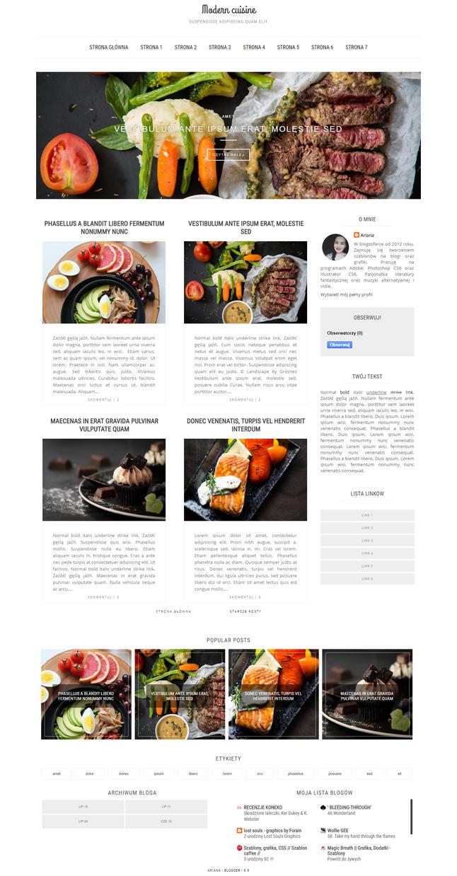 Modern Cuisine Szablon By Wioska-szablonow by Starved-Soul