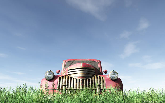 Good Old Red Truck Wallpaper by curious3d