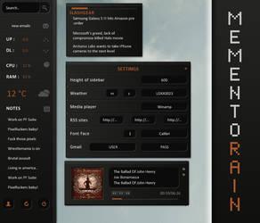 Memento Rainmeter 1.1 by LukasKokoska