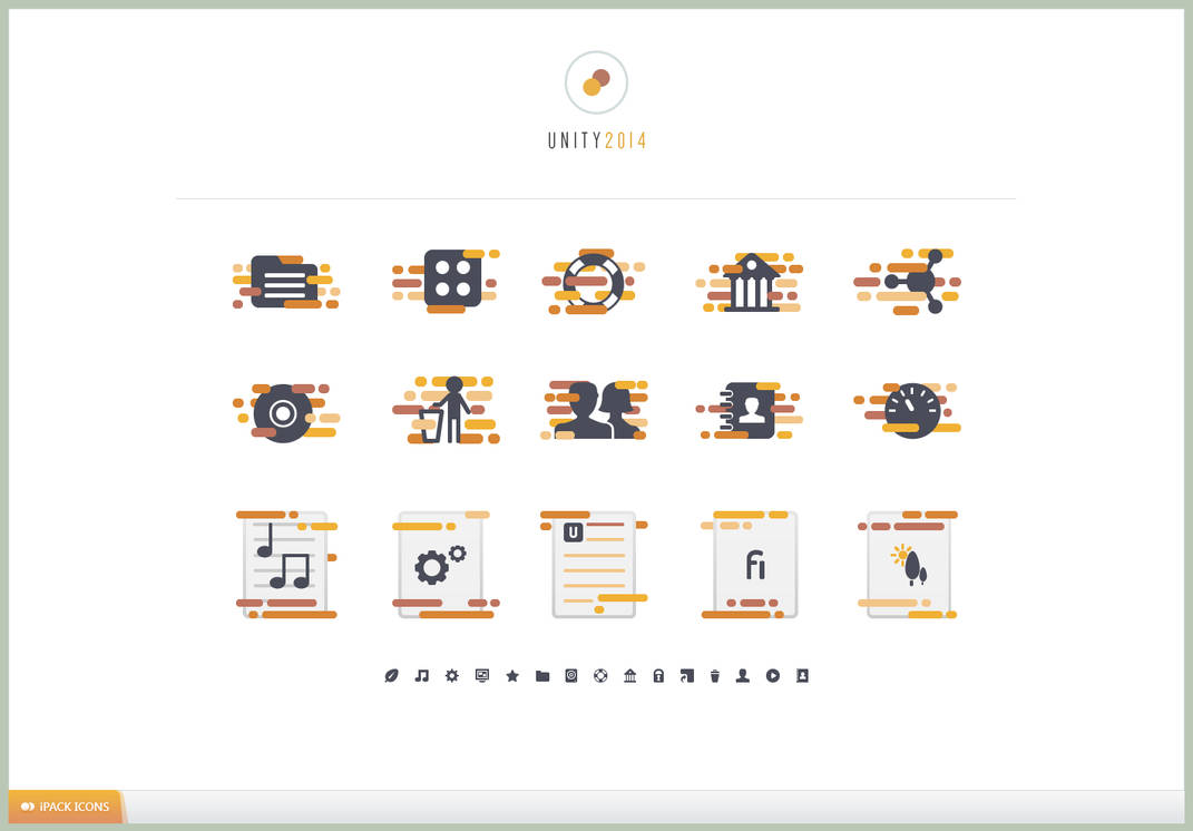 UNITY 2014 iPACK Icons by LukasKokoska