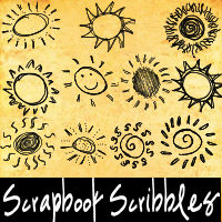 Scrapbook Scribbles-Suns by mandy71480