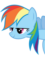 Rainbow Dash Peeking Out by craftybrony