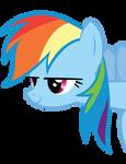 Rainbow Dash Peeking Out