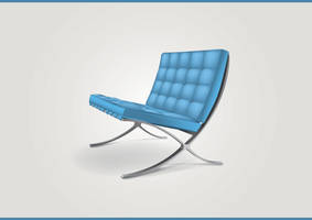 Blue chair - icon