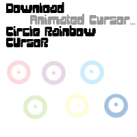 Circle Rainbow Cursor by KuroNoGuro